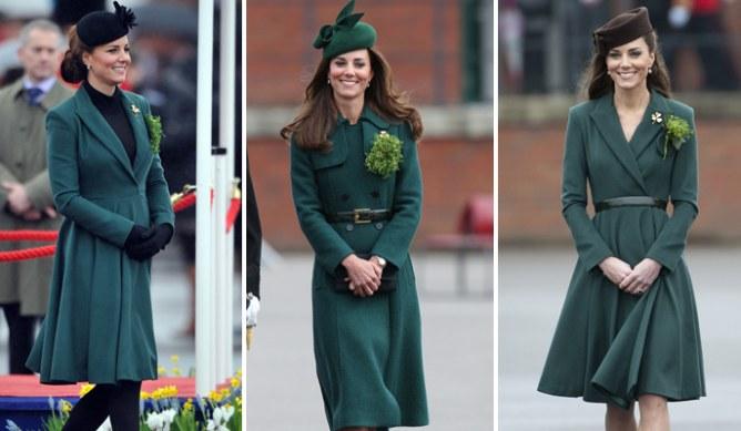 Kate Middleton e i tre outfit sfoggiati negli ultimi tre anni nel giorno di San Patrizio