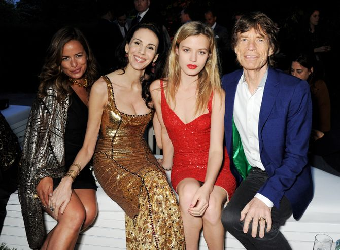 L'Wren Scott, Mick Jagger y Georgia May Jagger