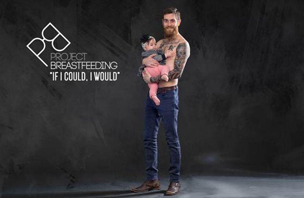 Se potessi, lo farei: guarda i papà che vorrebbero allattare i loro figli in queste splendide foto