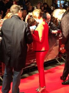 Scarlett Johansson à Paris pour l'avant-première de Captain America 2