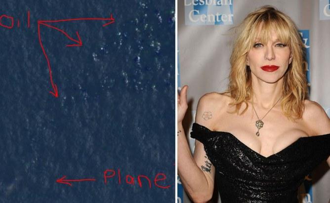 Courtney Love a-t-elle retrouvé l'avion de Malaysia Airlines ?