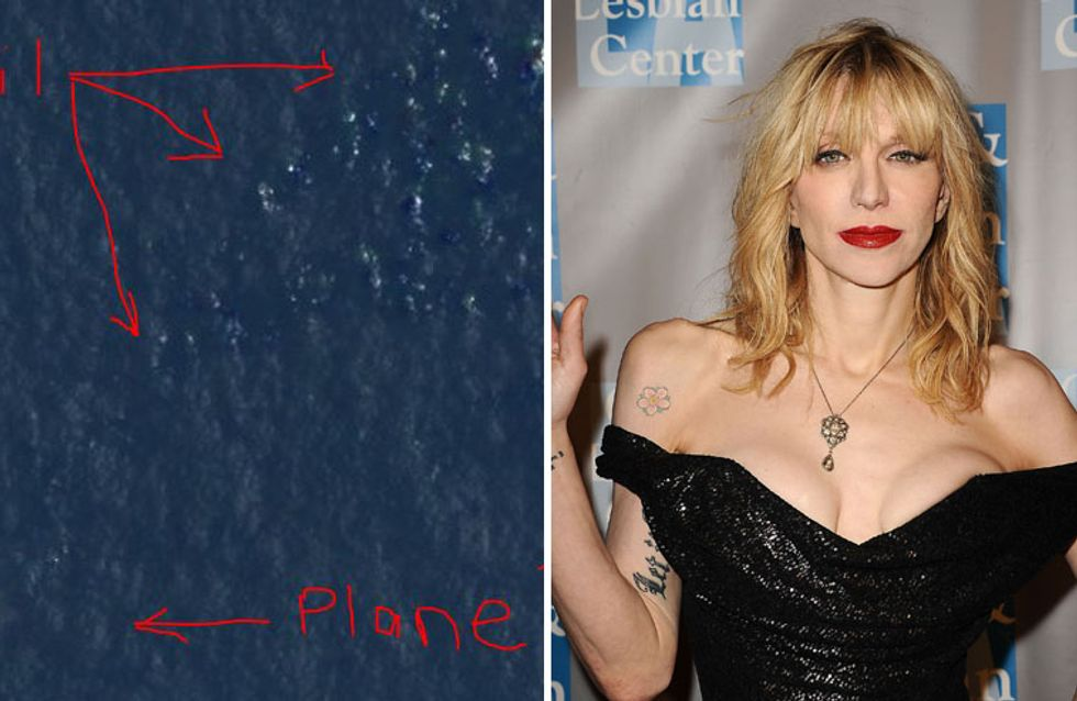 Courtney Love : Elle a retrouvé l'avion disparu de Malaysia Airlines !