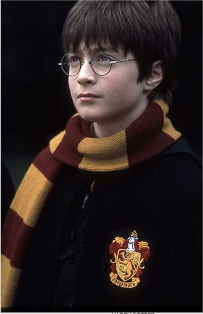 Daniel Radcliffe dans Harry Potter en 2001