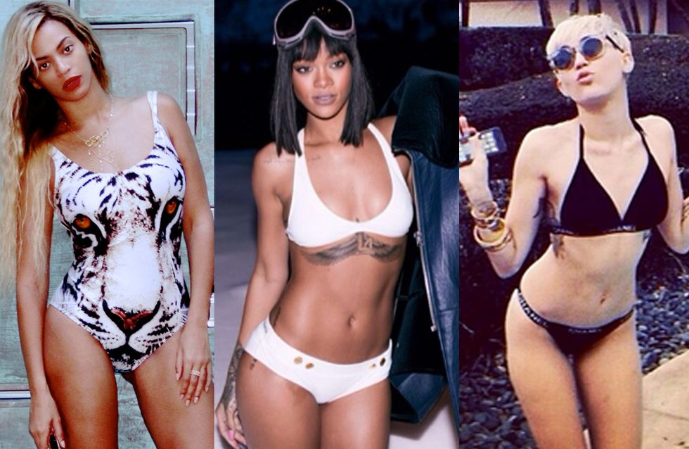 Beyoncé, Rihanna, Miley Cyrus… Toutes en bikini (Photos)