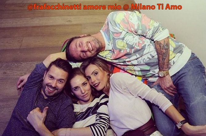 Fracesco Facchinetti con Wilma Helena Faissol e due amici