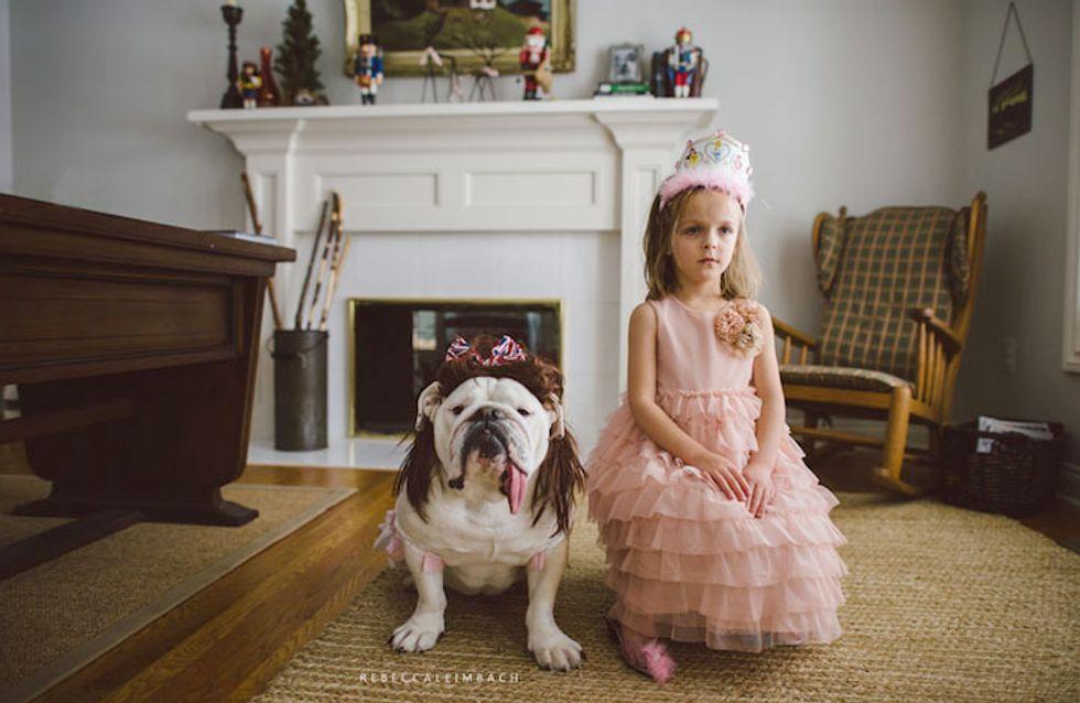 Une maman retrace l'amitié indéfectible de sa fille et son bouledogue en photos