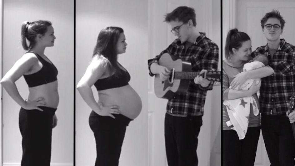 Video/ 9 mesi assieme a te: la dolce idea di una coppia per ricordare la gravidanza. Altro che album di foto!
