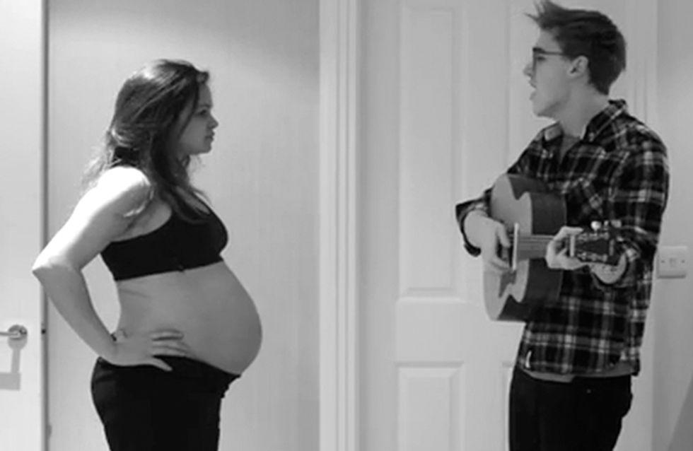 Papa singt & der Bauch wächst: Dieses Video ist zum Verlieben!