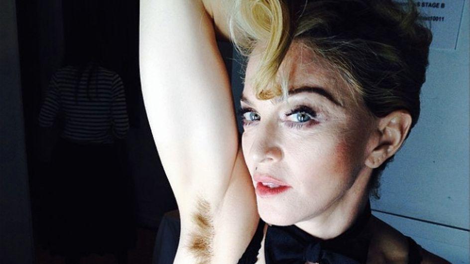 Madonna steht zu ihren Achselhaaren
