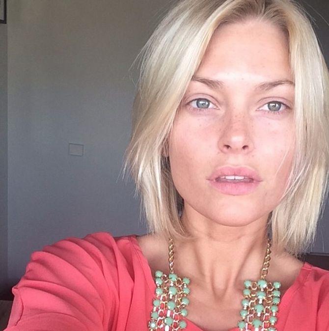Caroline Receveur sans maquillage