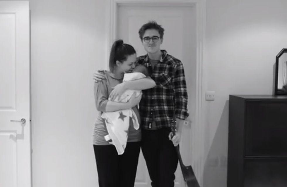 Trop mignon ! Ce papa réalise une vidéo originale pour annoncer l'arrivée de son bébé