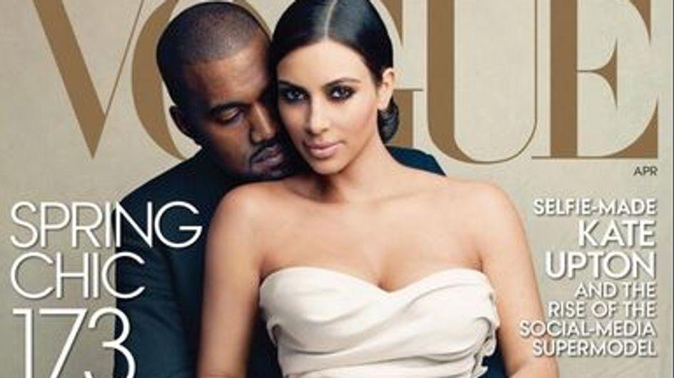 Kim Kardashian : En robe de mariée pour la couverture de Vogue (Photos)