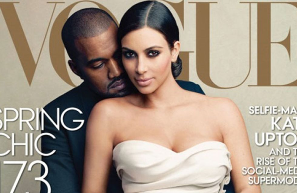 Kim Kardashian And Kanye West Cover Vogue Magazine- See The Cover & Behind-The-Scenes Video Here!