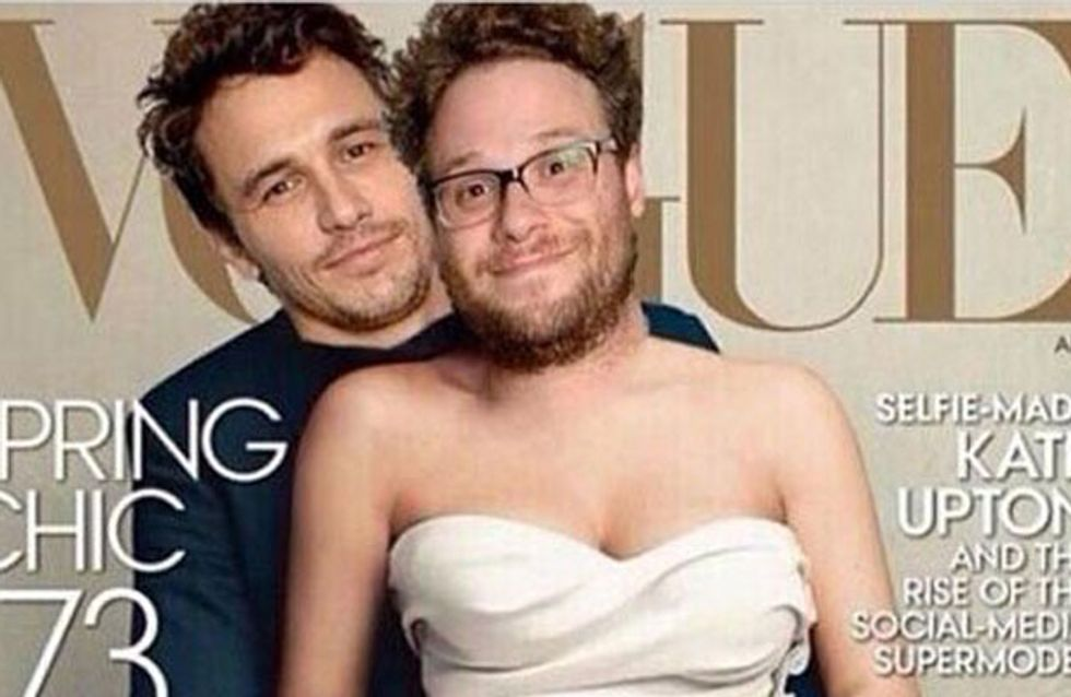 Seth Rogan and James Franco Spoof Kim Kardashian and Kanye West Vogue Cover- Our Fave Kimye Spoofs
