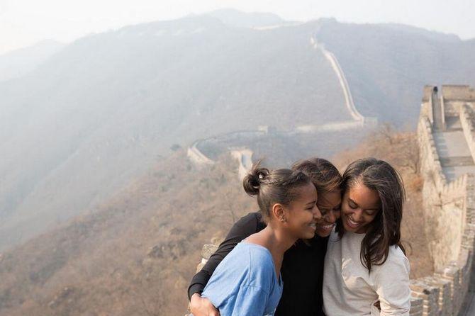 Michelle Obama et ses filles Malia et Sasha
