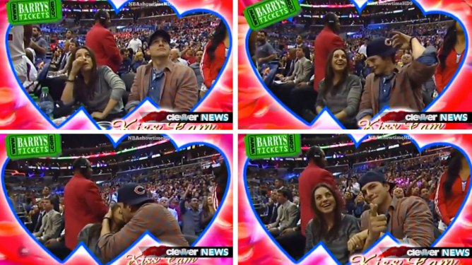 Il bacio tra Mila Kunis e Ashton Kutcher