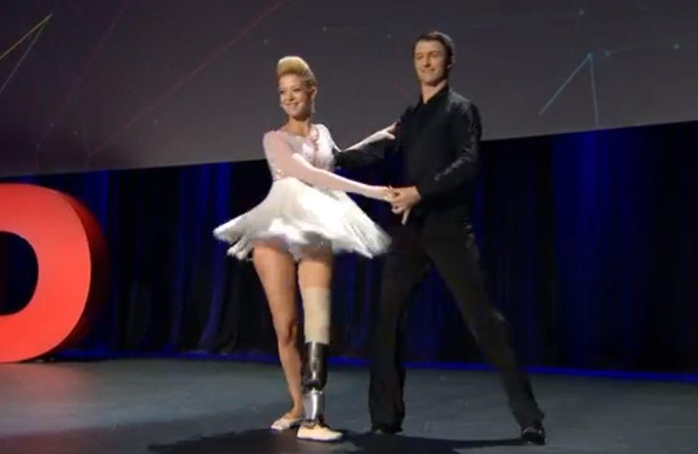 Attentats de Boston : Cette danseuse professionnelle remonte sur scène après avoir perdu sa jambe (Vidéo)