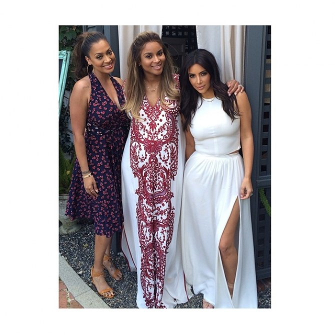 Kim Kardashian, Ciara et LaLa Anthony