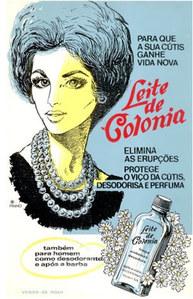 Comercial antigo do leite de Colônia
