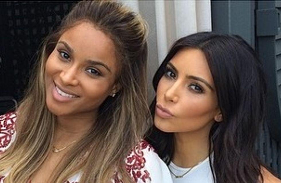 Kim Kardashian : Pause bébé et amitié pour la baby shower de Ciara