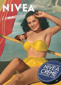 Comercial antigo do creme Nivea. Como não amar o biquíni retrô?