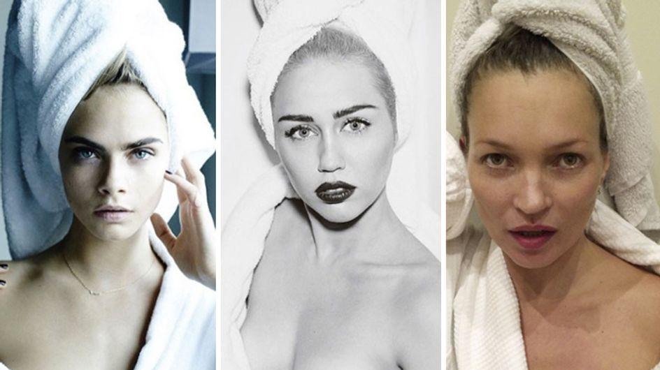 Da Kate Moss a Miley Cyrus. Le celebrities in asciugamani fotografate da Mario Testino