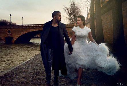 Kim Kardashian et Kayne West pour Vogue