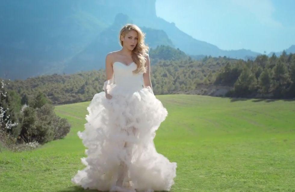 Shakira : Elle fuit son mariage dans son nouveau clip (Vidéo)