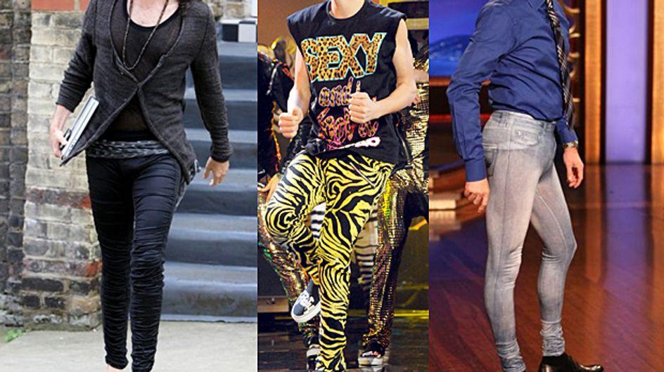 Arrivano i meggings, i leggings da uomo. Li faresti indossare al tuo lui?