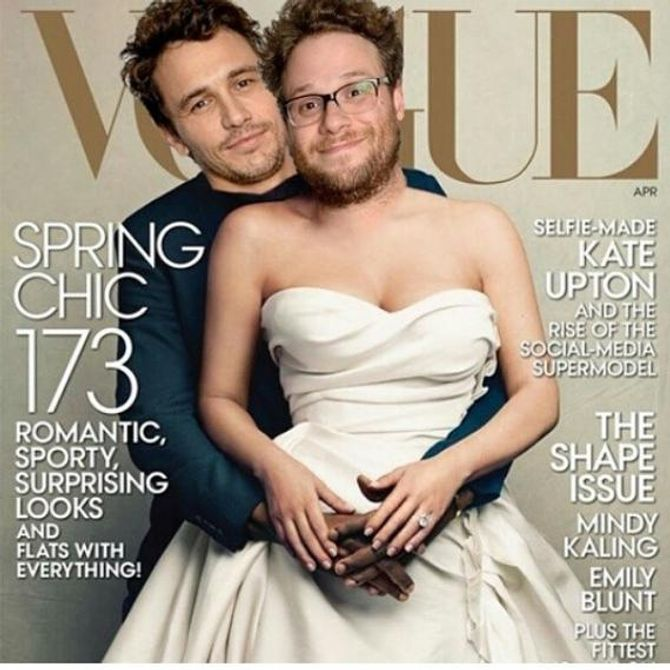 James Franco et Seth Rogen refont le couverture