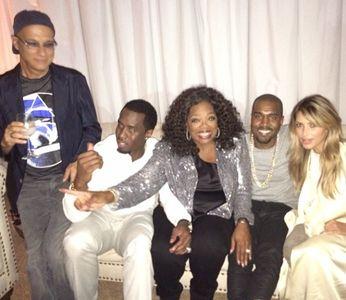 Kim, Kanye et Oprah Winfrey