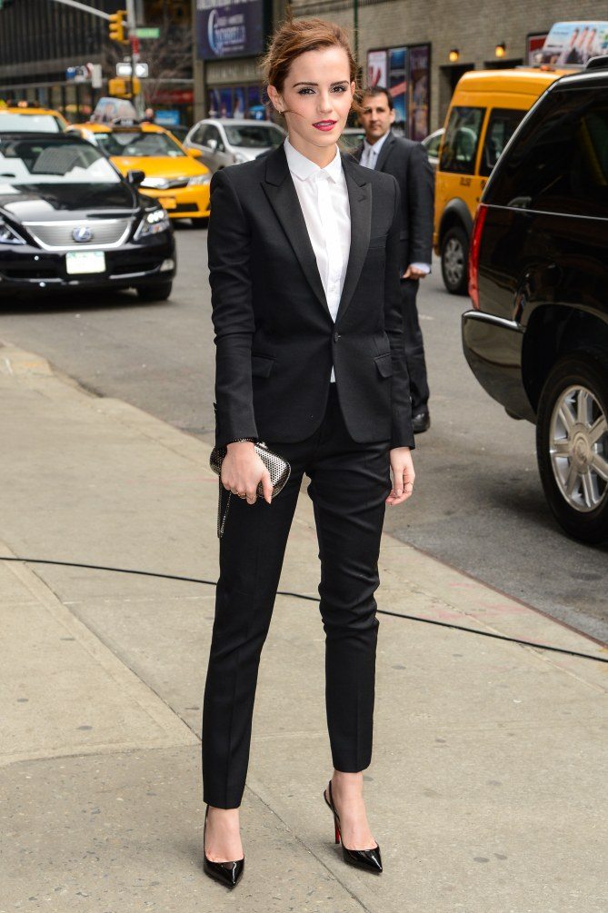 Emma Watson en el Late Show de David Letterman