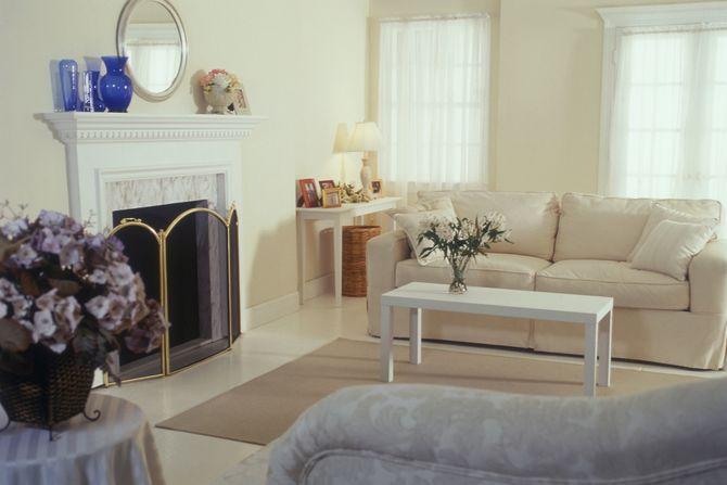 Un'immagine di un'abitazione dai toni luminosi e pastello