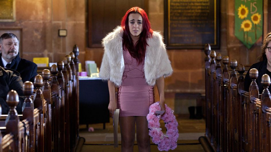 Hollyoaks 11/04 – Sinead interrupts Katy's funeral