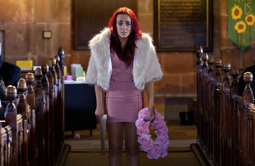 Hollyoaks 11/04 – Sinead interrupts Katy's funeral