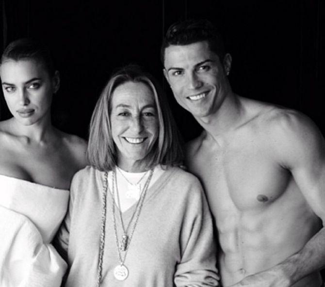 Irina Shayk et Cristiano Ronaldo en shooting pour Vogue