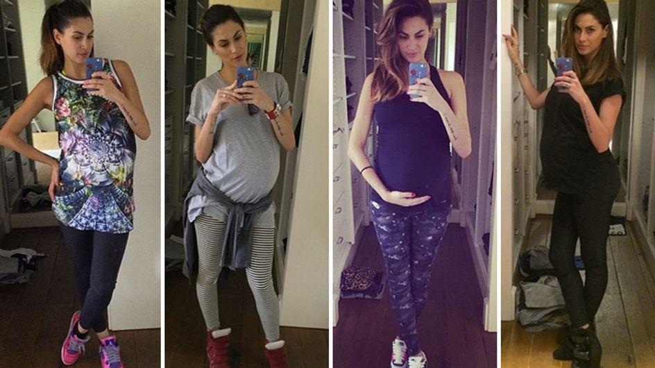 """Melissa Satta: """"Ci siamo quasi!"""" Le foto dei look della showgirl vicinissima al parto"""