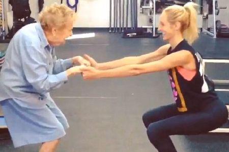 A 97 ans, grand-mère Edna se met au Fitness