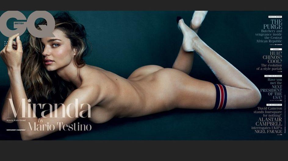 Miranda Kerr : Complètement nue pour le magazine GQ (Photos)
