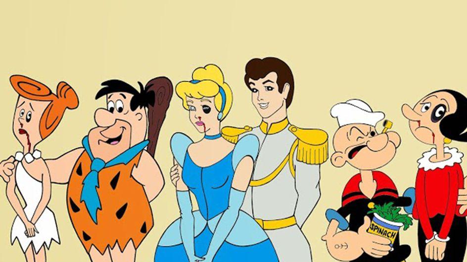 Liebe wie im Märchen? Fehlanzeige! Cartoons zeigen das hässliche Gesicht häuslicher Gewalt