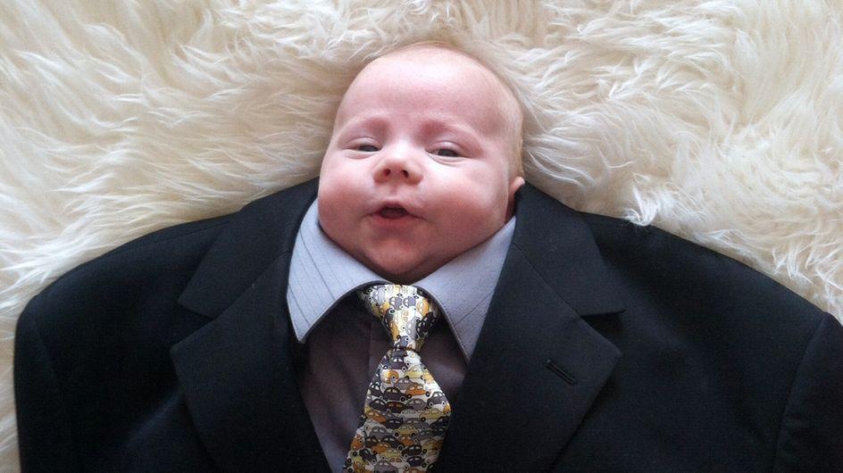 """""""Baby suiting"""", la moda de vestir bebés con trajes que arrasa en Internet"""