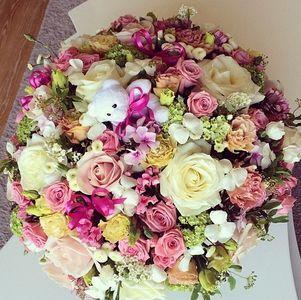 Un joli bouquet pour la naissance de Margaux