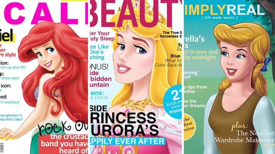 E se le dive sulle copertine delle riviste fossero le principesse Disney? Ecco le nuove Gisele, Scarlett e Miley!