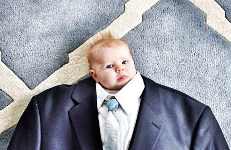 Baby suiting: Ces bébés trop mignons qui s'habillent comme leurs papas