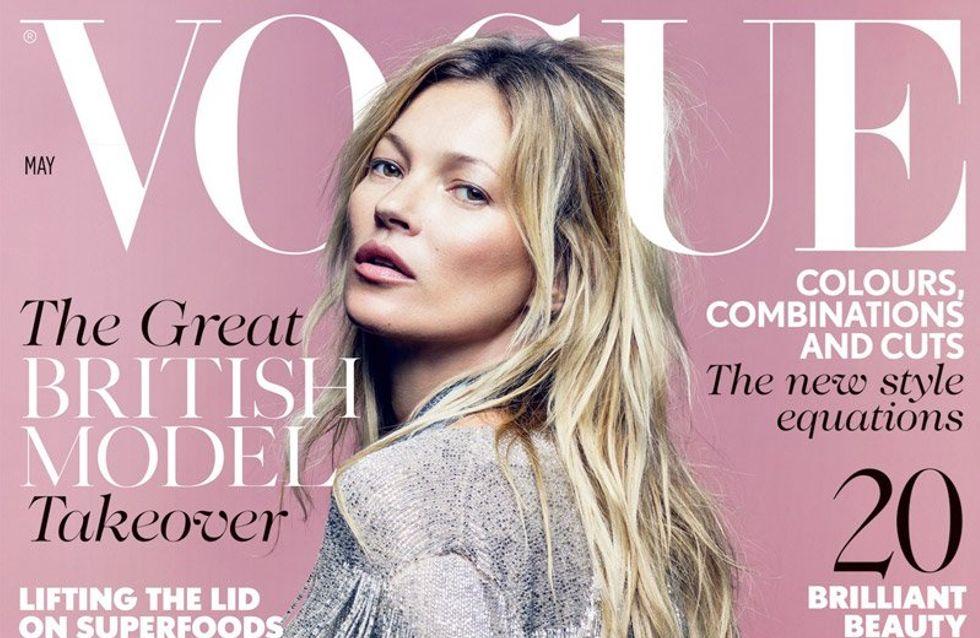 Kate Moss célèbre sa 35ème couverture pour Vogue