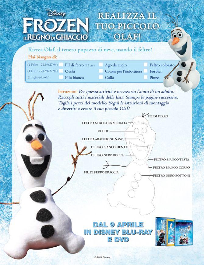 Fai da te: crea Olaf, il pupazzo del film Frozen