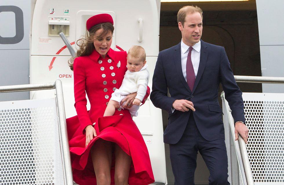 Los duques de Cambridge realizan su primer viaje junto al príncipe Jorge