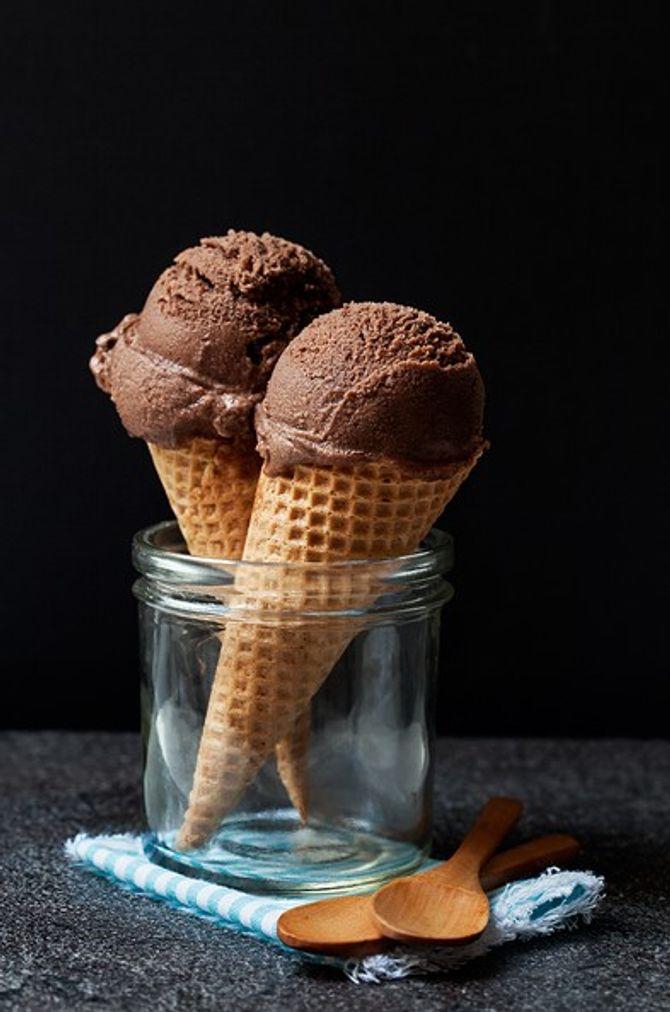 Sorbet chocolat - tonka - fleur de sel