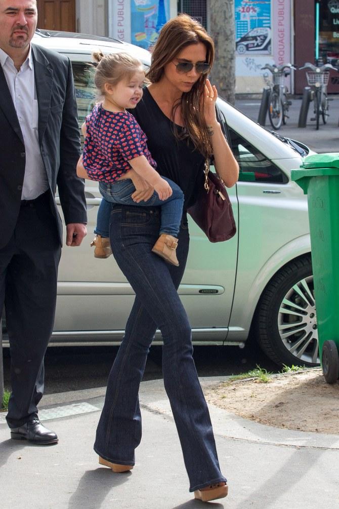Victoria Beckam en virée avec sa fille Harper