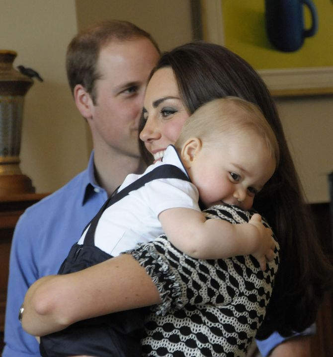 Kate insieme a William e al piccolo George